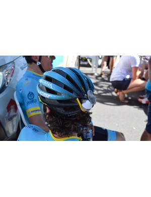 ...a small Koala strapped to the back of Manuele Boaro's Limar helmet
