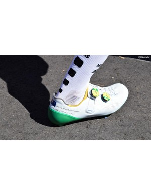 Former Australian-champ, Alexander Edmondson, gets a pair of custom Shimano S-Phyre shoes