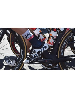 This UAE Team Emirates rider opts for Mavic's $1,000 Comete Ultimate shoes