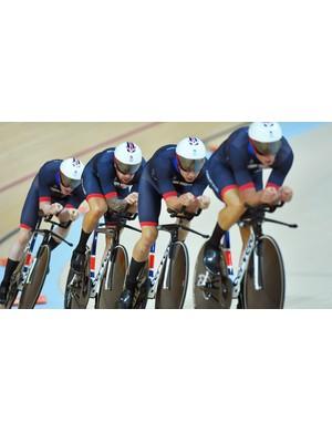 Team Great Britain in the Rio Olympics Men's Team Pursuit Finals