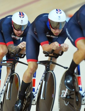 Team Great Britain in the Rio Olympics Men's Team Pursuit Finals
