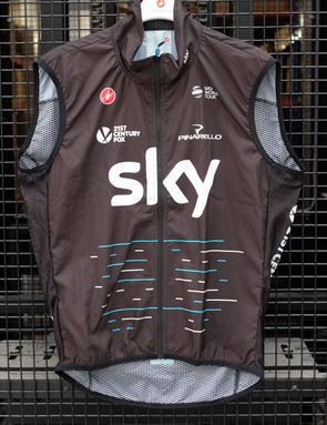 The wind vest will be the team's choice for blustery days
