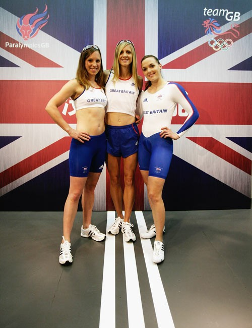 (L-R) Heather Fell, Liz Yelling and Victoria Pendleton