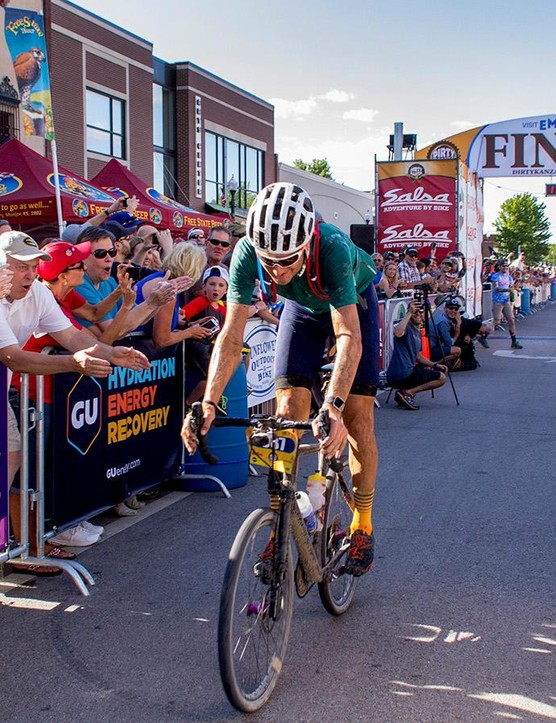 Recently retired WorldTour rider Ted King may have found his next calling as a gravel racer. King rode away with the overall win at this year's Dirty Kanza 200