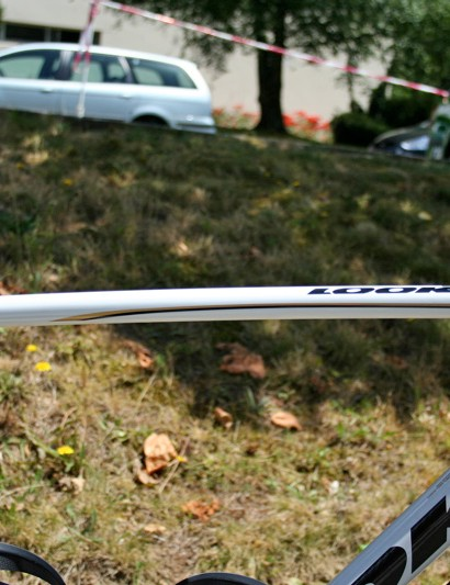 In contrast the top tube is slender  and delicate looking, but is laterally stiff where it needs to be.