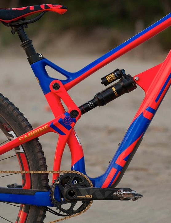 The JS Enduro suspension is one of three JS link suspension systems on Intense's bikes