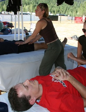 The massage tent