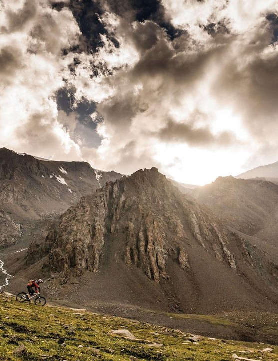 Awesome untouched riding high up in the Kyrgyzstan mountains