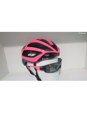 Kask's sister glasses brand KOO offers perfect colour coordination between glasses and lid...