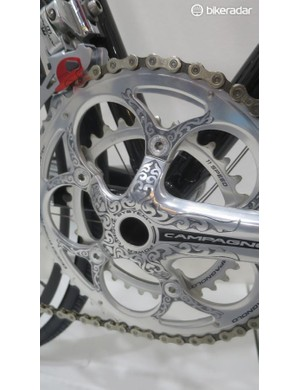 But up close when you see the hand-filigree work applied to the Campagnolo Athena groupset...