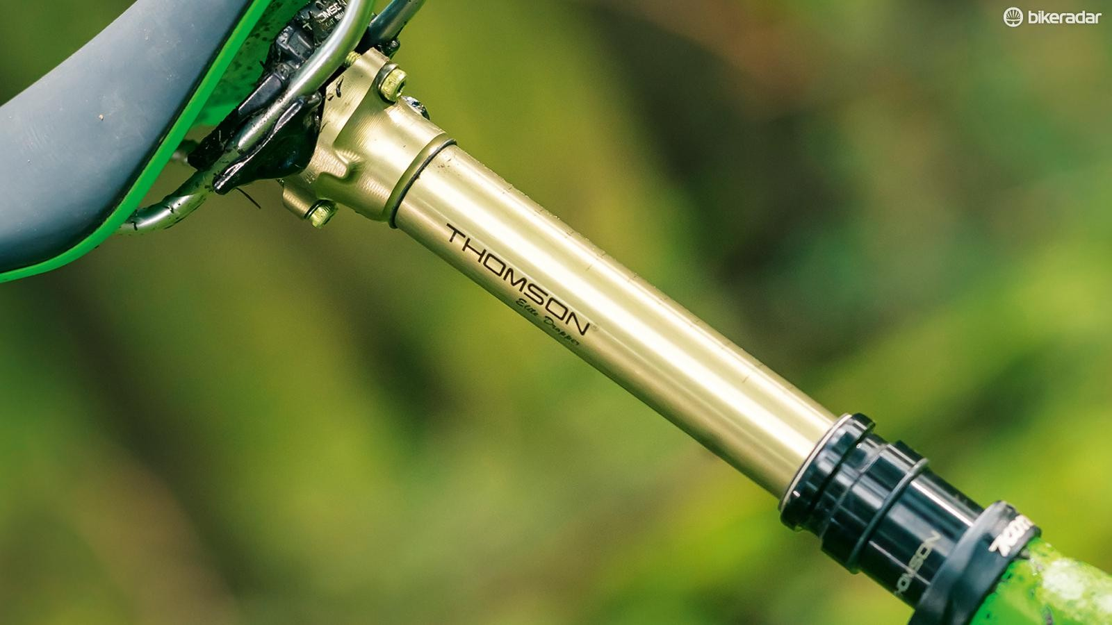 The Thomson Elite dropper post, our weapon of choice for this test