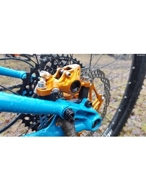 Those looking for a little bling might want to consider the Hope brake option