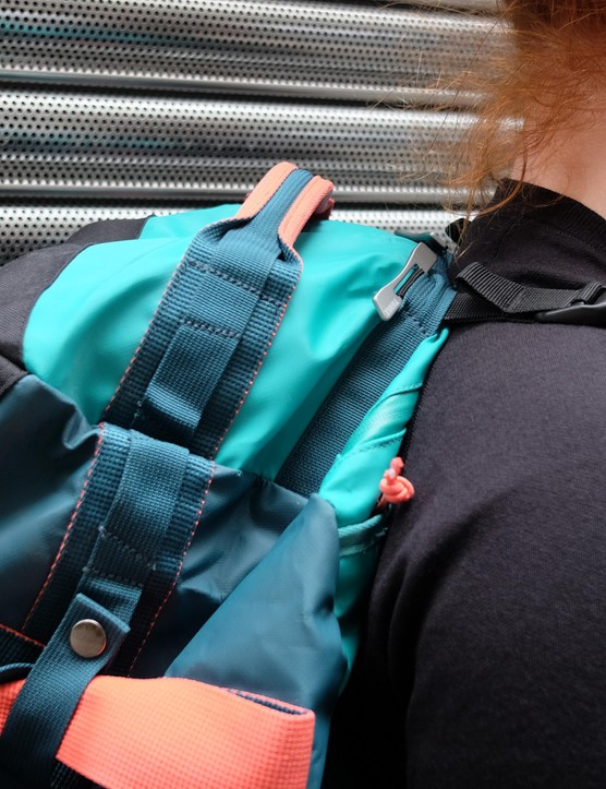 The padded shoulder straps are much comfier on the shoulders and body than traditional nylon straps