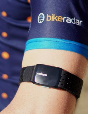 Wahoo's Tickr Fit measures and broadcasts heart-rate data on ANT+ and Bluetooth
