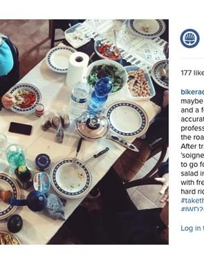 Tiffany Cromwell tucks into some hearty Italian grub