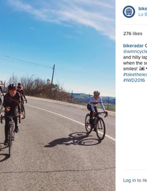 Training rides are part and parcel of the pro lifestyle, and Cromwell clearly enjoys them