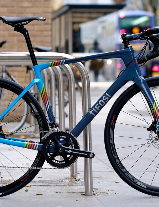 We think the bike looks resplendent in its colourful paint job