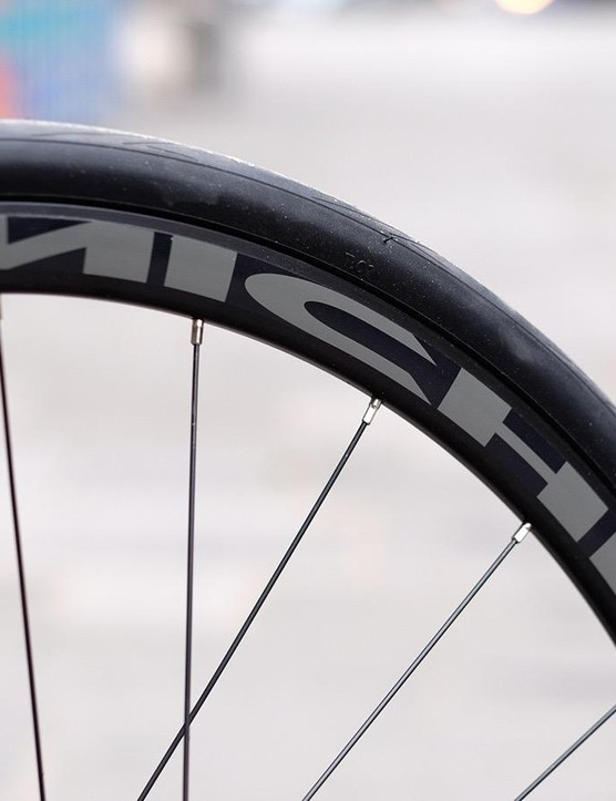 Miche supplies these alloy disc wheels
