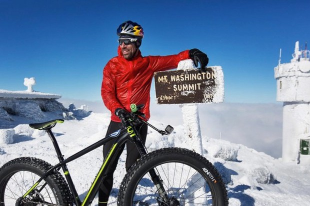 Tim Johnson climbed Mt. Washington on a fat bike