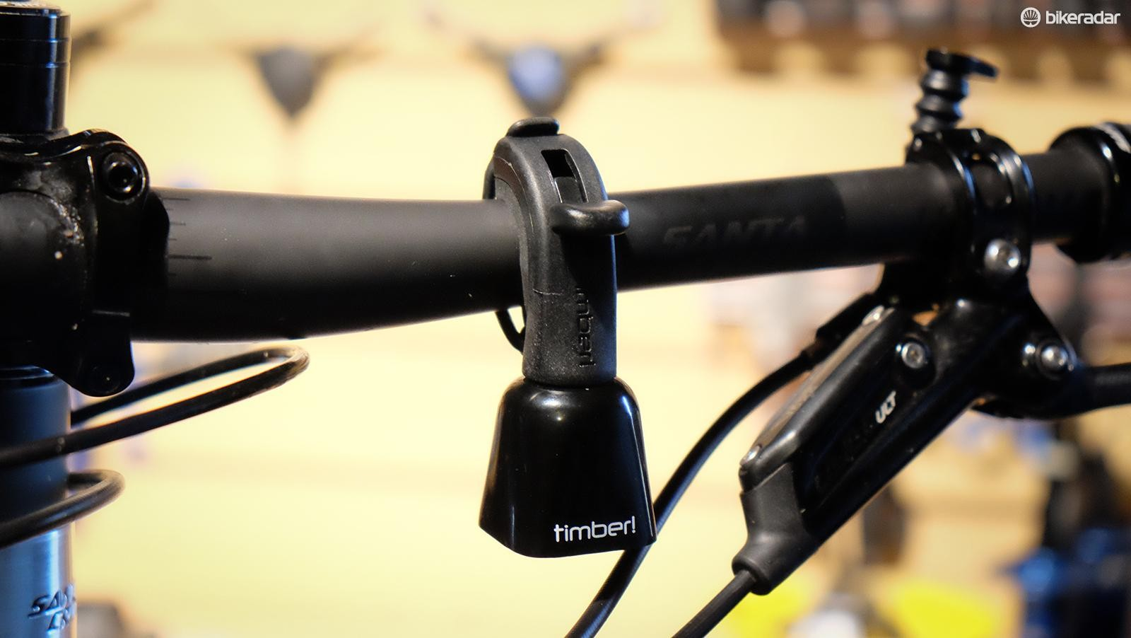 Timber has a lever that allows the rider to silence the bell when it's not needed