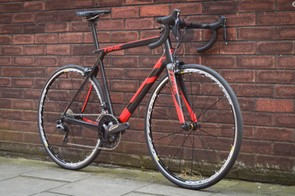 This particular bike is kitted out with Ultegra Di2 and relatively modest wheels