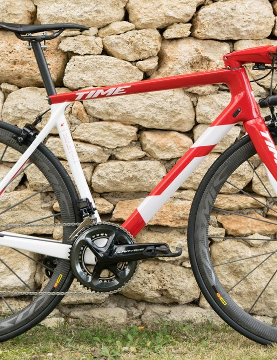 Time's configurator will let you spec the bike you want. I rather like this bold red-and-white paintjob