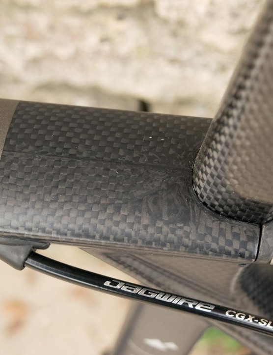 With no cosmetic layer, variations in the carbon lay-up are on show
