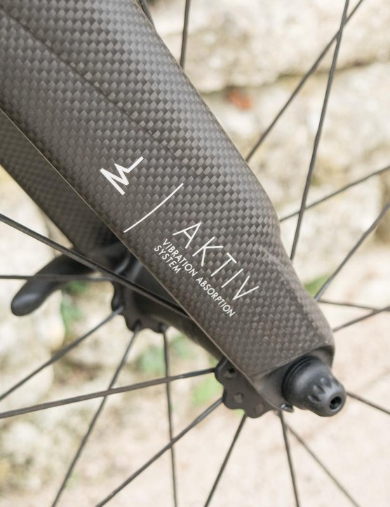The Aktiv fork uses a tuned mass damper to absorb vibrations