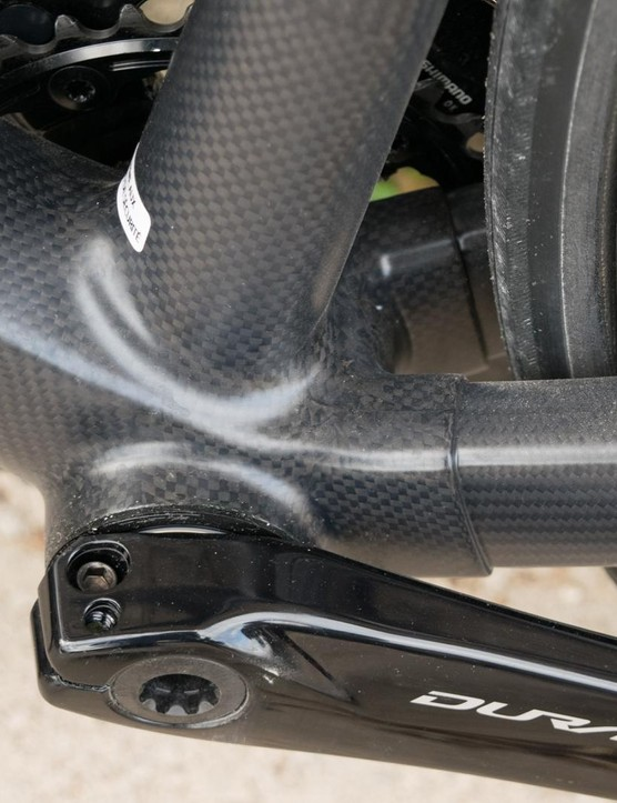 There's a clear join where the rear triangle meets the BB386 bottom bracket
