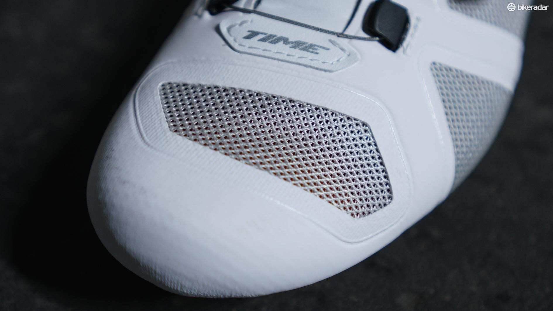 The mesh used on the upper feels hardier than what is typically used on cycling shoes