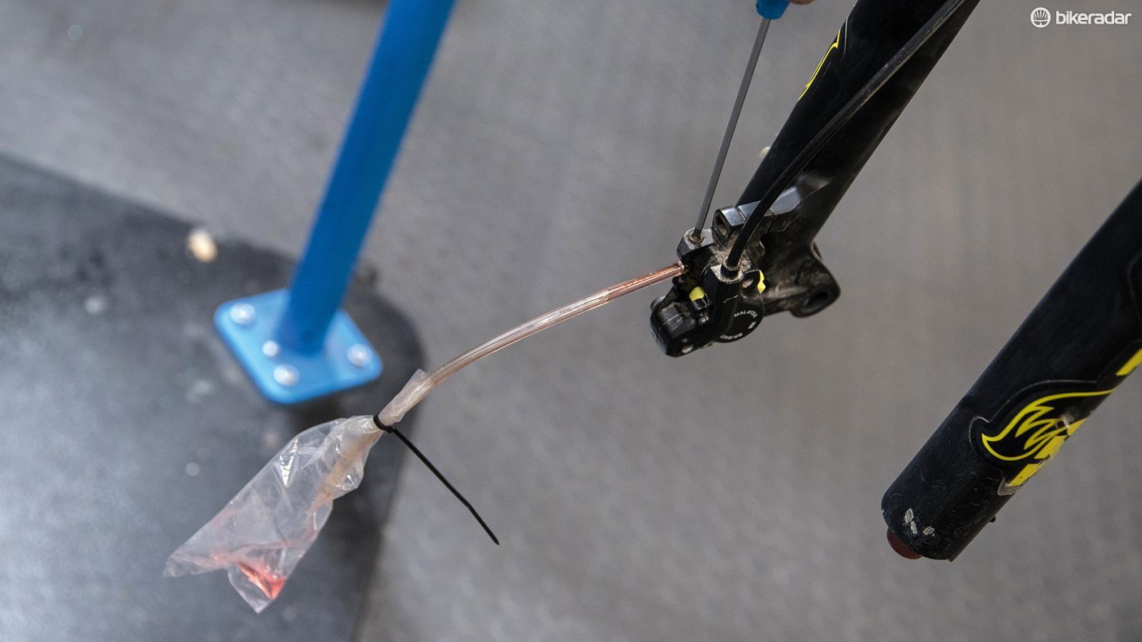 Shimano disc brake bleeding procedure — step-by-step guide