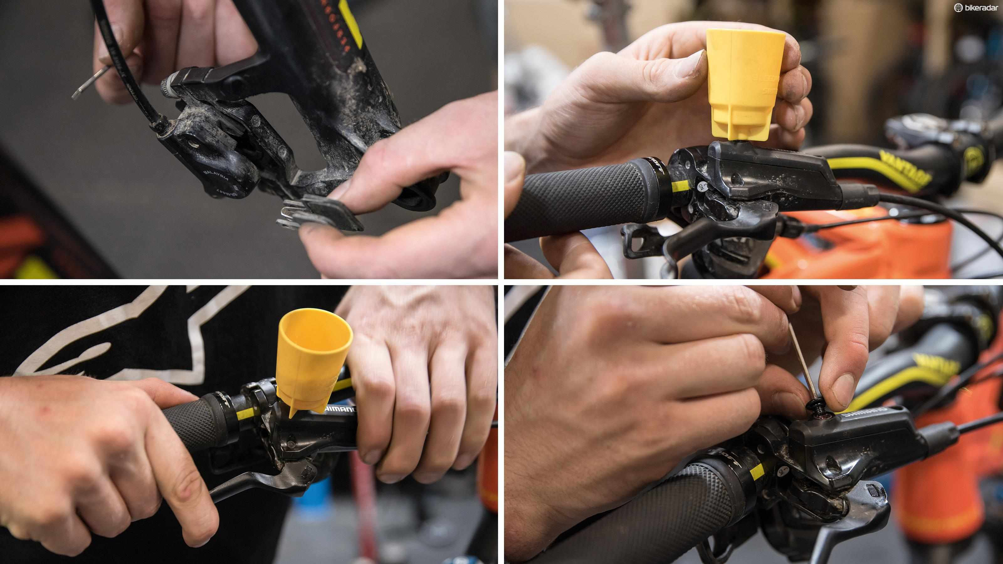 Bleeding Shimano hydraulic disc brakes is a painless process