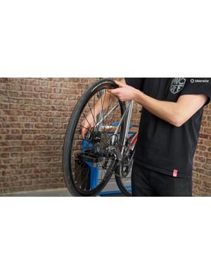 1. Rear wheel removal