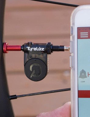 TyreWiz sensors measure air pressure and relay the data to cycling computers and smartphone