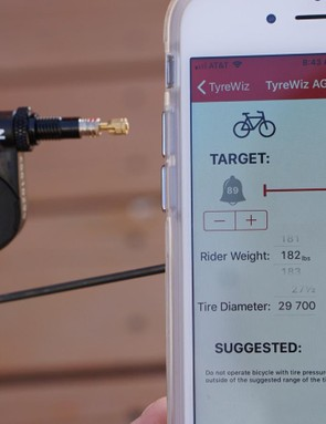 The TyreWiz app offers pressure recommendations based on weight and tyre dimensions