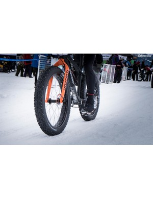 Fine tuning tire pressure was critical to gaining traction on the churned-up course