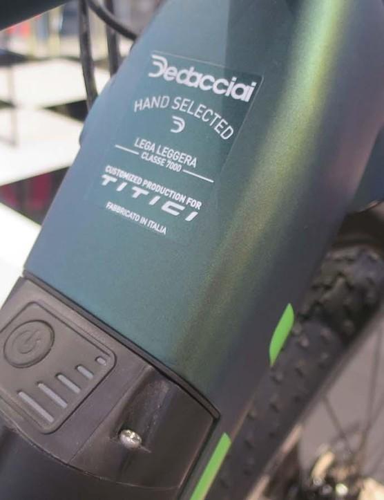 Dedacciai supplies Titici with custom drawn aluminium tubing for the e-gravel machine