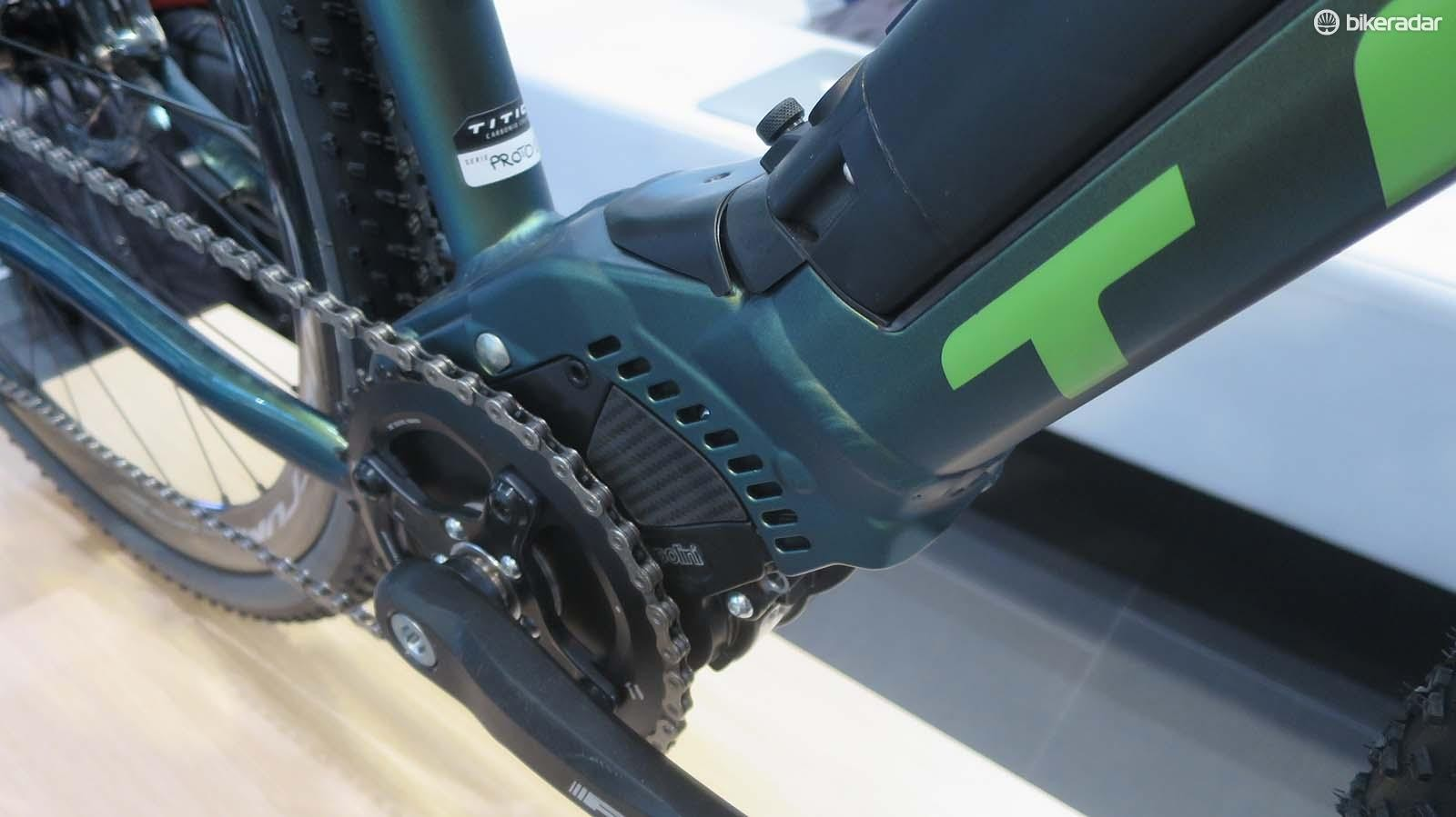 Polini's BB mounted motor is smaller than the likes of Bosch and Shimano