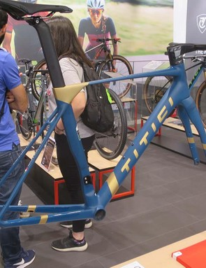 The prototype aero disc road bike from Titici is entering a congested field, but it's the only one we've seen that can be built full-custom