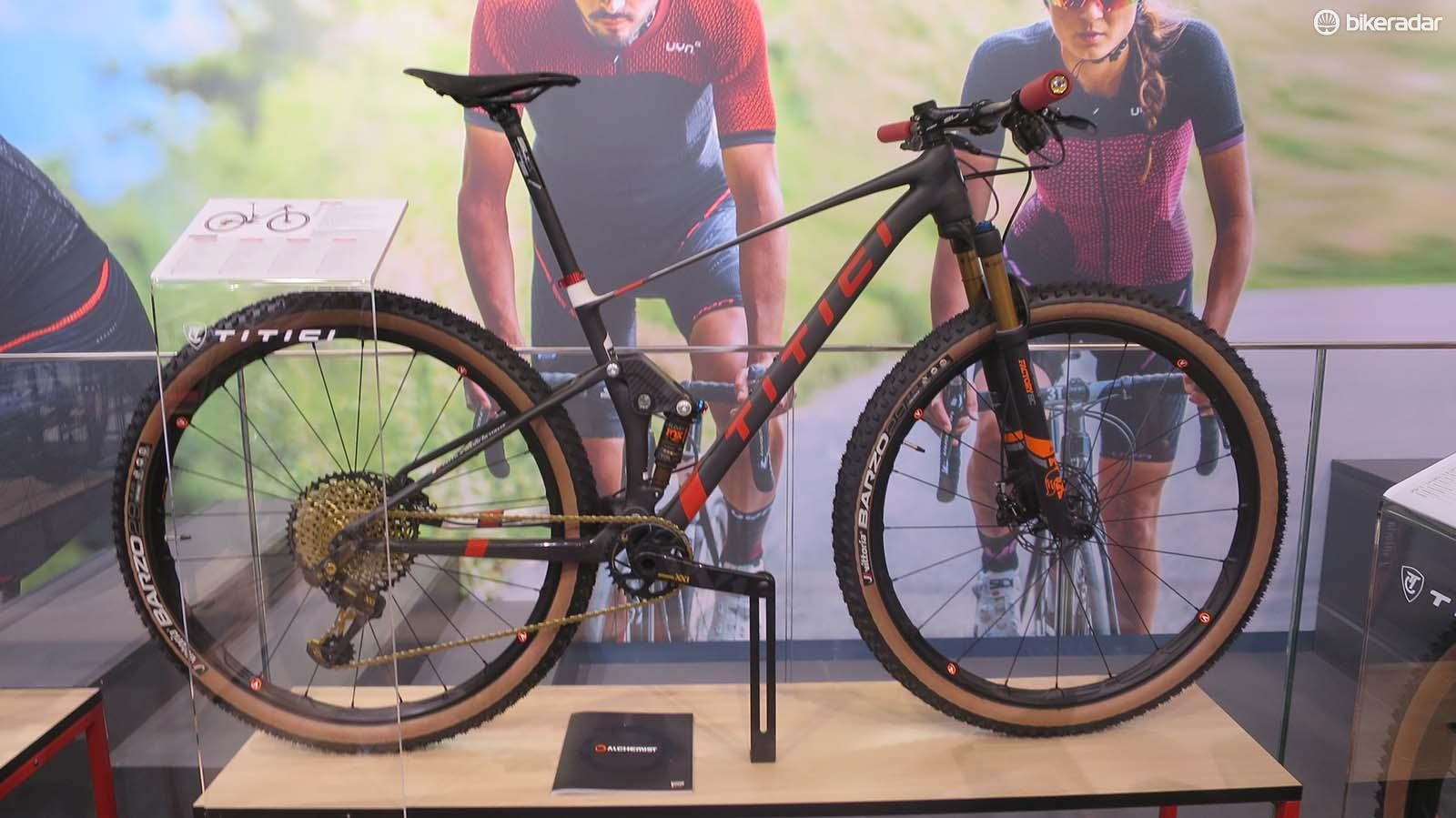 Titici's 29er full suspension looks very much like an XC race machine