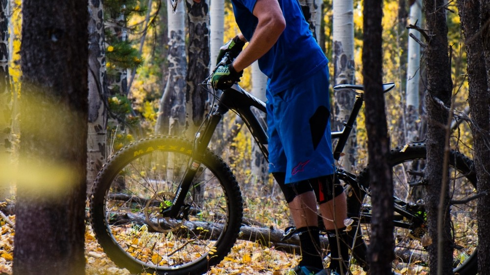 Pushing is likely when you're wearing pads, the Speed Knee Sleeves can hang off the bike