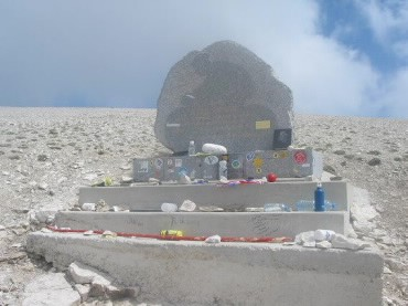 The Tom Simpson Memorial on Mont Ventoux.