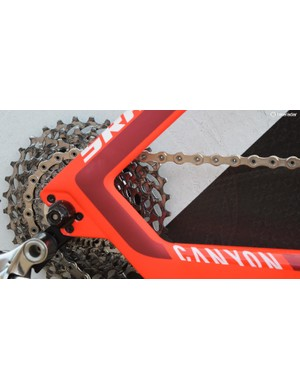 Accompanying the 58T front chainring is an 11-32 cassette