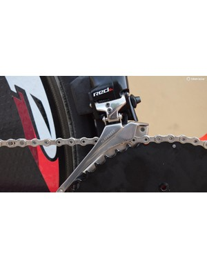 Tony Martin has ridden a single front chainring in previous time-trial bike setups