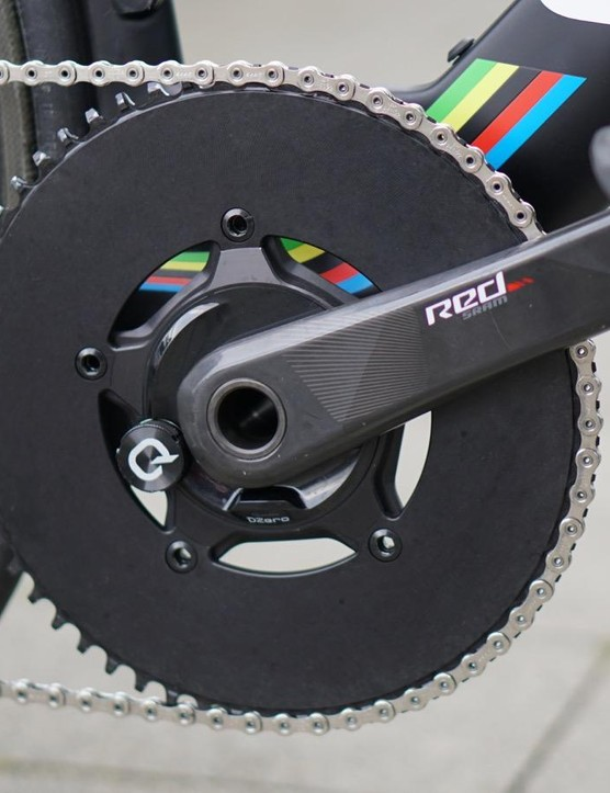 The reason for the 11-32 cassette is the massive, single front ring