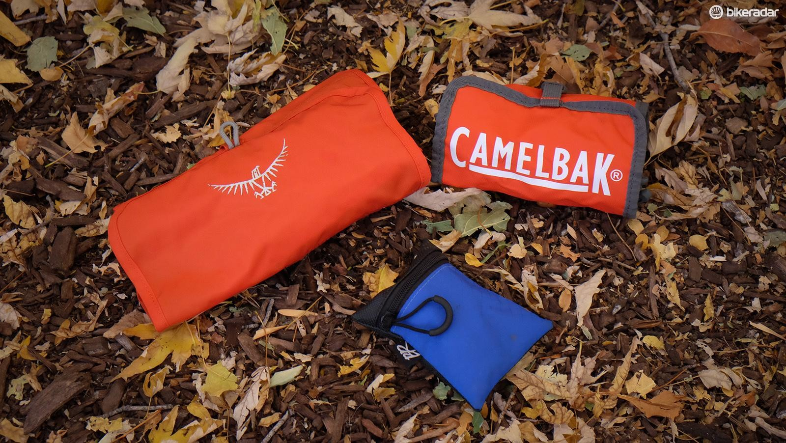 Many packs come with tool rolls that keep all your repair items organized. If yours doesn't, consider using a small bag or pouch to keep track of smaller bits of kit