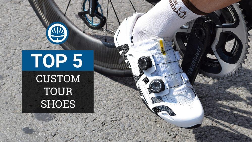 custom road shoes at the Tour de France