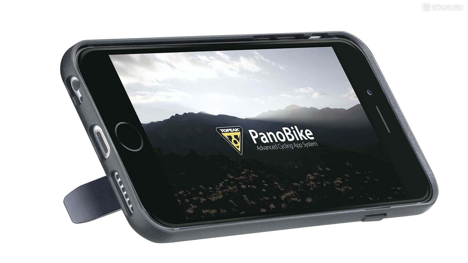 Topeak's RideCase is a plastic phone case with a rigid composite fibre base plate