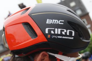 BMC and Katusha riders are wearing Giro's new and unreleased Vanquish MIPS aero helmet