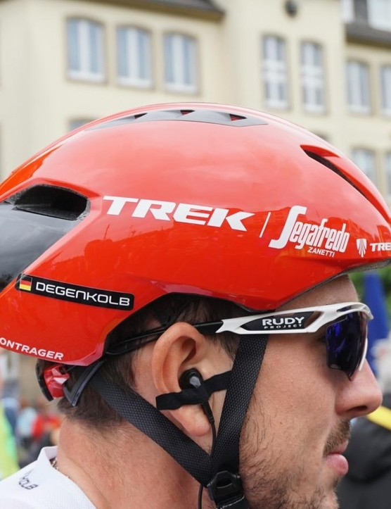 Trek-Segafredo riders also have have the aero Ballista for flat stages